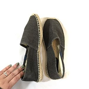 Soludos Gray Dali Twill Espadrilles Size 9